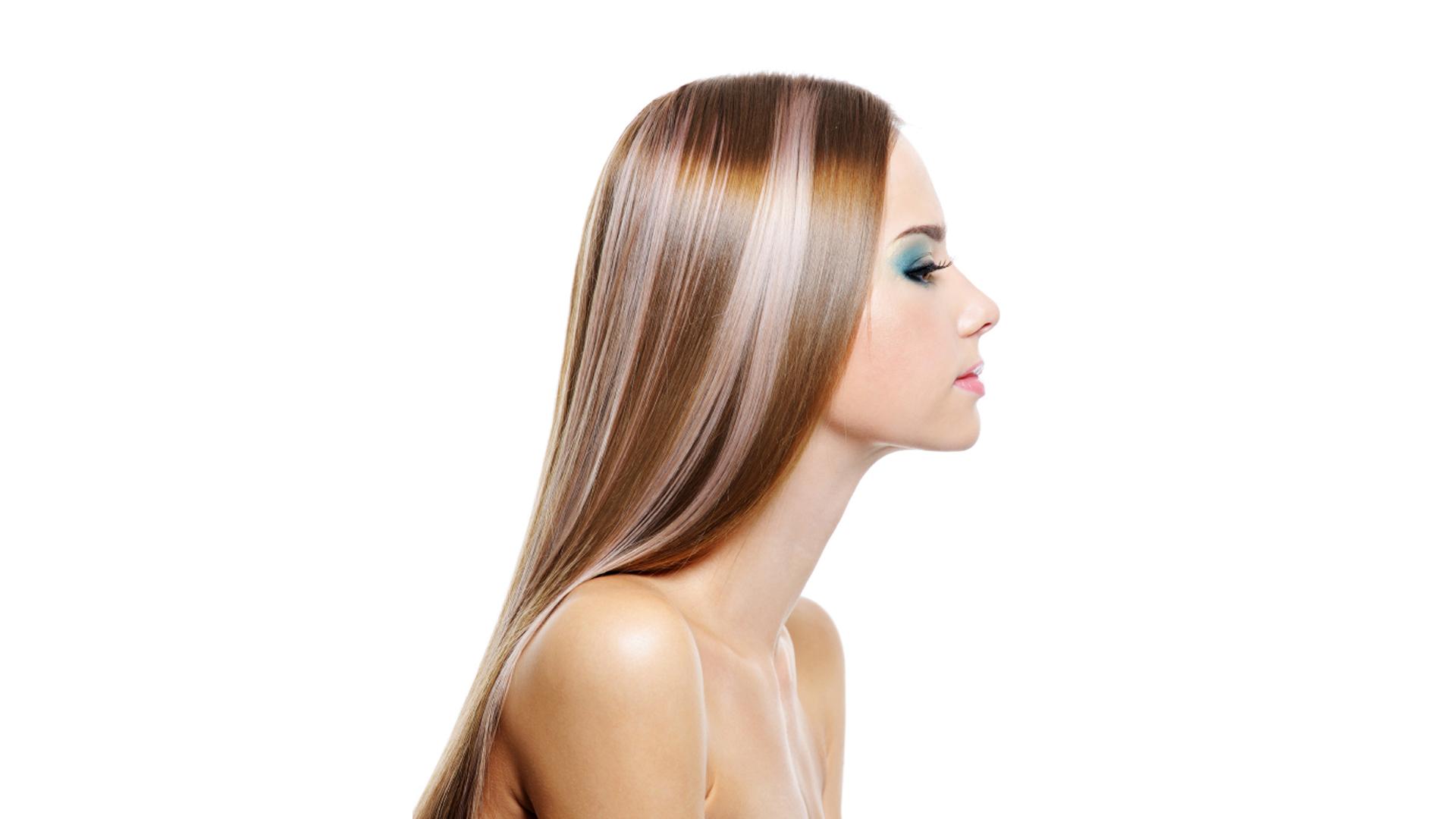 Внутреннее мелирование на светлые волосы